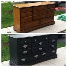 chalk paint furniture before and afterA dresser makeover with spray paint  Spray painting Dresser and