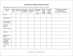 Substance Abuse Assessment Worksheet | PsychPoint