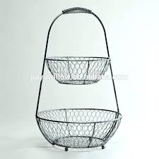 3 tier fruit basket floor stand tiered fruit basket basket swing fruit basket decoration kitchen wire
