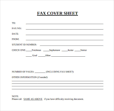 Fax Cover Sheet Samples 15 Blank Fax Cover Sheet Cover Sheet