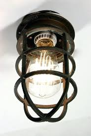 vintage industrial light bulb cage metal ceiling pendant antique cast bronze fixture for wall or remodel