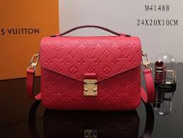 lv louis vuitton pochette metis shoulder bags leather m41488 monogram handbags red