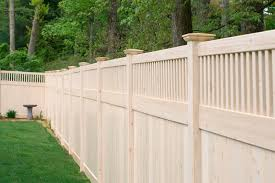 a grand illusions vinyl woodbond eastern white cedar w105 v37016 privacy fence painted privacy fence e19