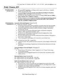 Registered Nurse Resume Sample Intensive Care Unit Nursing