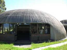 One architect by the name of Nicol Bini has used wood, steel, and concrete  materials with an air bladder to create his quirky and efficient Binishell  domed ...