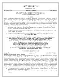 Quality Control Resume In Food Industry Sales Quality Control