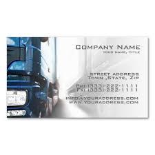 Truck Transportation Logistics Business Card Cards
