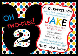 Mickey Mouse Clubhouse 2nd Birthday Invitations Mickey Mouse Clubhouse Oh Two Dles 2nd Birthday Invitation