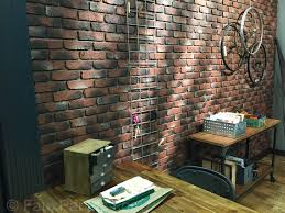 brick veneer wall created with old chicago brick panels in antique color
