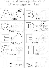Alphabet Coloring Pages Free Printable Free Printable Alphabet Color