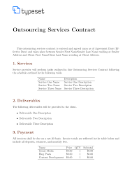 Service Contract Template Free Contract Template Contracts Outsourcing Services Contract Template Template