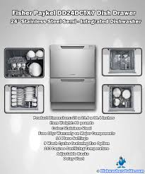 fisher and paykel dishdrawer. Fisher Paykel DD24DCTX7 Dish Drawer 24 Inches Stainless Steel Semi - Integrated Dishwasher Infographic And Dishdrawer N