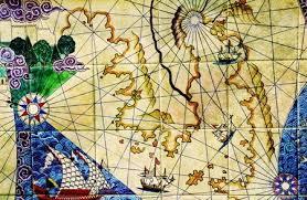 Nautical Chart Wall Mural Old Nautical Chart Wallpaper Mural