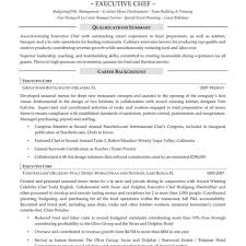 Chef Resume Samples Template Free Examples Resumes Executive Cover