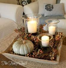 Gorgeous Fall Coffee Table Tray Display ~ The Fancy Shack