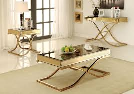 sundance cm4230 3 pieces contemporary brass metal coffee table set brass and metal furniture