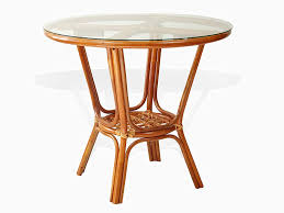 Amazoncom Pelangi Rattan Wicker Round Dining Table With Glass Top