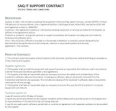 It Support Agreement Template Or Child Letter Service Level
