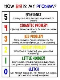 How Big Is My Problem Chart How Big Is My Problem Behavior Chart School Social Work