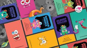 illustrator business card template monster business card template in illustrator tutorial freebie