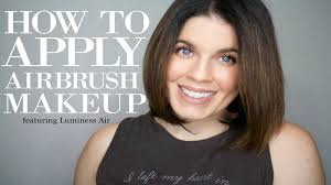 how to apply airbrush makeup featuring luminess air everyday makeup look code
