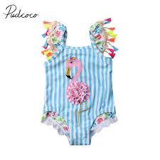 <b>2019</b> Brand New Newborn Kids Baby Girls <b>Flamingo Bikini</b> Colorful ...