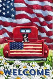evergreen flag and garden. Plain Garden Evergreen Flag  Patriotic Pup Truck Decorative At Garden House Flags  GardenHouseFlags In And F