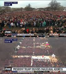 trump inauguration crowd size fox first official act of trump press secretary is to lie about an