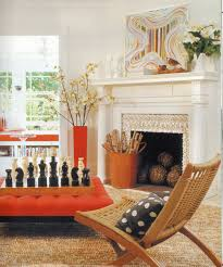 orange living room furniture. The Delicate Color Selection Of This Living Room Departs From Common Schemes By Orange Furniture T