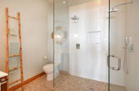 Bathrooms Modern Bathroom Decor With Bamboo Towel Hanger And Glass
