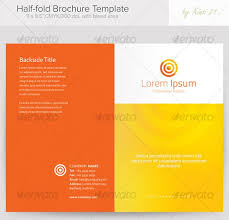 Half Fold Template - NeptunHalf Fold Brochure Template. Psd Bi ...