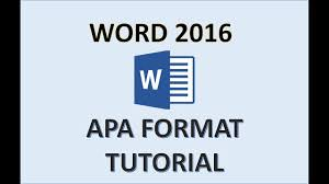 Apa Word Template 2015 Word 2016 Apa Format How To Do An Apa Style Paper In 2017 Apa