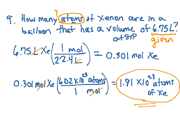 Two Step Mole Conversion Problems Science Chemistry