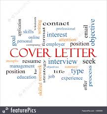 Word Cover Letters Cover Letter Word Cloud Concept Illustration