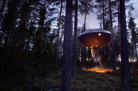 invisible tree house hotel. 4-the-tree-hotel-ufo Invisible Tree House Hotel