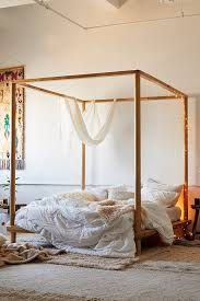 Canopy Bed with suitable four poster canopy curtains with suitable ...