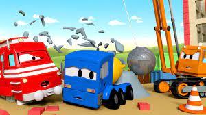 Dane xe cần cẩu phá công trình -xe lửa Troy ? những bộ phim hoạt hình về xe  tải Vietnamese Cartoons - YouTube