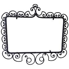 mirror frame outline. Wrought Iron Mirror/Picture Frame, Hand-Forged, Late Victorian Style, Circa 1900 For Sale At 1stdibs Mirror Frame Outline O