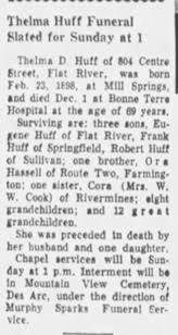 Obituary for Thelma Huff (Aged 69) - Newspapers.com