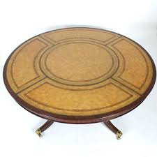 round table for handsome mahogany dining center or library table with finely tooled and