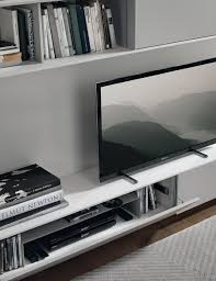 sleek living room furniture. View In Gallery Modern Wall Unit System With Smart Sleek Shelves And Floating Cabinets Living Room Furniture