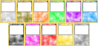 Photo Card Template Pokemon Blank Card Templates Basic By Levelinfinitum On