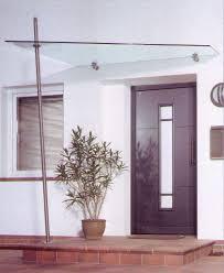 Vordach Vordächer Edelstahl Glas Seitenteil Freitragend Bei