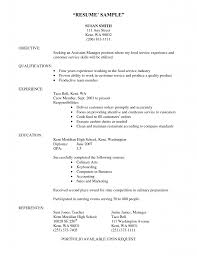 Culinary Student Resume Without Experience Resume Template 2018