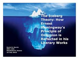 the iceberg theory the iceberg theory how ernest hemingway s principle of omission is reflected in his literary