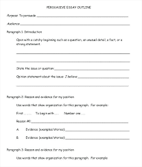 Images Of Writing A Persuasive Essay Template Net Outline