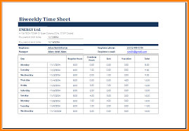 8 Excel Biweekly Timesheet Lbl Home Defense Products