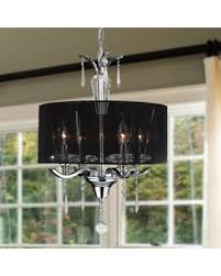 Contemporary drum lighting Ceiling Light Brilliance Lighting And Chandeliers Contemporary 4light Chrome Finish And Full Lead Crystal With Black People Score Big Savings On Brilliance Lighting And Chandeliers