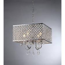 warehouse of zarah 4 light chrome crystal chandelier with shade rl5623 the home depot