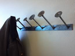 Coat Rack Part Wall mounted welded coat rack featuring used by ZandersMetalWorks 5